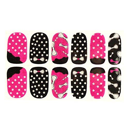 FaithYoo Super Cute Cartoon Pattern 12pcs Nail Foil Nail Art Sticker Patch Nail Wraps per dita (Style 16) Stile 16 style 16