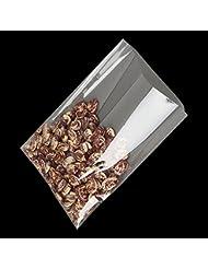 Panier de sachets cadeau clair de 15,2x 20,3cm (1.2mil) en cellophane plate. Il dispose de 100sachets cadeau de noël.