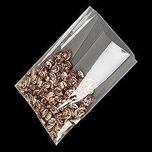 6x 8Inch (1.2mil) Celofán Flat Cello/bolsa bolsa para dulces de cesta de suministros regalo de Navidad (100unidades, transparente
