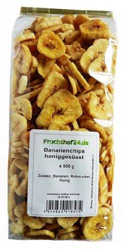Bananenchips - Honiggesüsst - getrocknet - ungeschwefelt - 1 kg