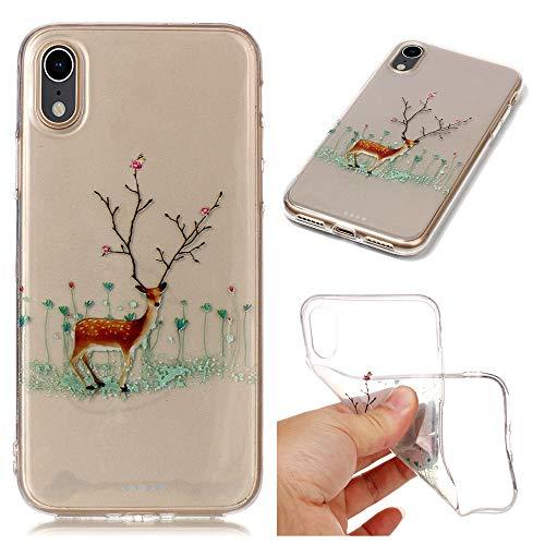 QINPIN Weihnachtshülle Weiche, schlanke, Ultra Telefon-Schutzhülle für das iPhone XR 6.1 Inch
