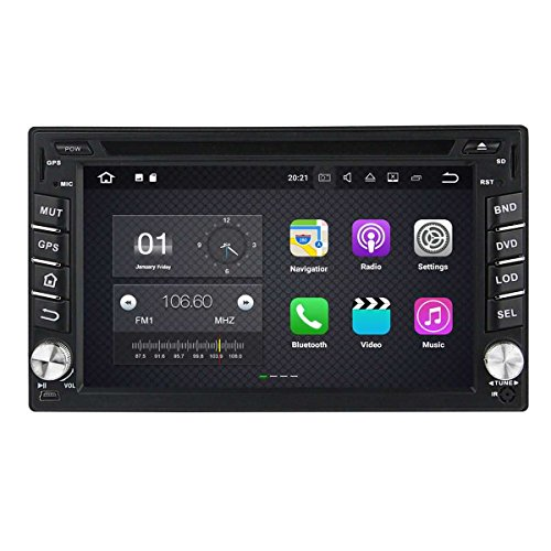 6.2 Zoll 2 Din Android 7.1 OS Autoradio für Nissan Sentra 2007 2008 2009 2010 2011, kapazitiver Touchscreen mit Quad Core 1.6G Cortex A9 CPU 16G Flash und 2G DDR3 RAM GPS Navi Radio DVD Player 3G/WIFI Aux Input OBD2 USB/SD DVR (Nissan Sentra-touch-screen)