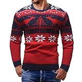 Uomini Maglione Uomo Cashmere 100% Moda Pullover Stampa di Natale Puro Lana A Manica Lunga con Girocollo Soffice E Morbido Qinsling