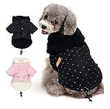 Tineer Pet Puppy Little Star Coat, Pet Dog Warm Winter Clothes Puppy Cats Abbigliamento per Maglioni Abbigliamento per Cani di Piccola Taglia (L, Nero)