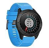 kingko Weiche Silikonarmband Ersatz Uhrenarmband für Garmin Approach S60 Smartwatch Schnellspanner 22mm (Himmelblau)