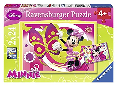 Ravensburger - 09047 - Puzzle Enfant Classique - Une Journée avec Minnie - 2 x 24 Pièces