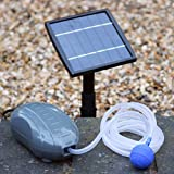 Solar Oxygenator Air Pump for Pond - 1.5W Aerator Oxygen Pump Kit 1 Stone for Garden, Aquarium, Fish Tank by PK Green