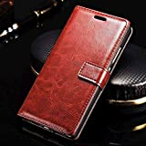 XORB® Oppo F5 Flip Cover PU Leather Case Premium Luxury Revel Touch PU Leather Cover For Oppo F5 Brown