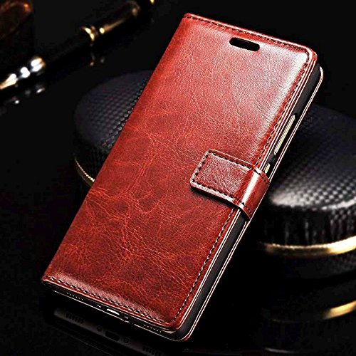 XORB PU Leather Luxury Revel Touch Flip Cover Case for Lenovo K8 Plus  (Brown)