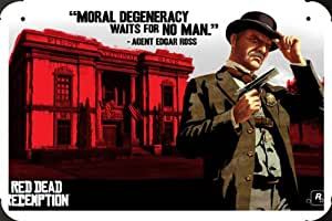 Red Dead Redemption Agent Edgar Ross Metal Poster enseigne marque 20x30cm