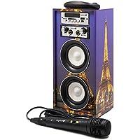 Karaoke DigiVolt HIFI-16 by MovilCom | altavoz bluetooth reproductor mp3 reproductor multimedia USB Micrófono Radio FM Entrada AUX Mando PARIS