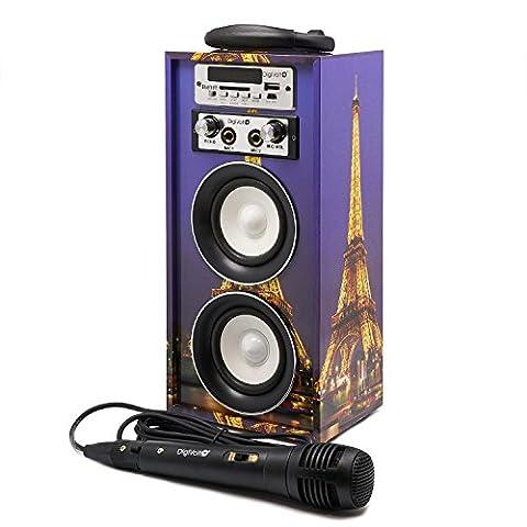 Karaoke digivolt hifi-16by movilcom | Enceinte Bluetooth Lecteur MP3Lecteur Multimédia USB Audio Radio FM Entrée AUX Alimentation Paris