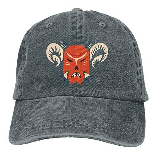 Lornvw Dämon Unisex gewaschen einstellbare Vintage Cowboyhut Denim Baseball Caps Multicolor98 -