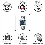 Casio Damen Digital mit Edelstahl Armbanduhr LA680WA 2B