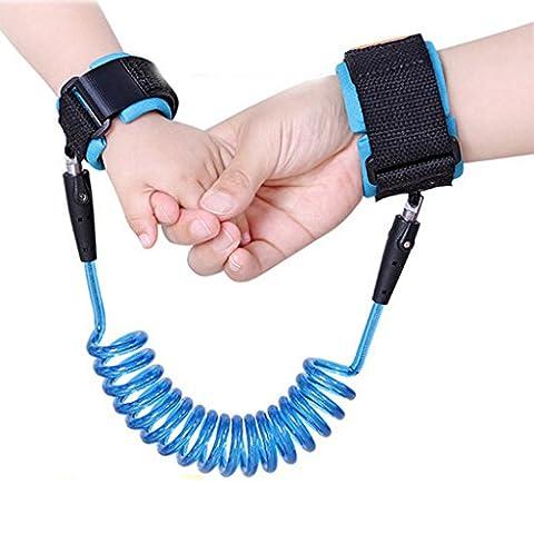 SNNplapla Baby Safety Harness Strap Anti-Lost Wrist Link Leash Walking Hand Belt for Kids Toddler Child,Blue