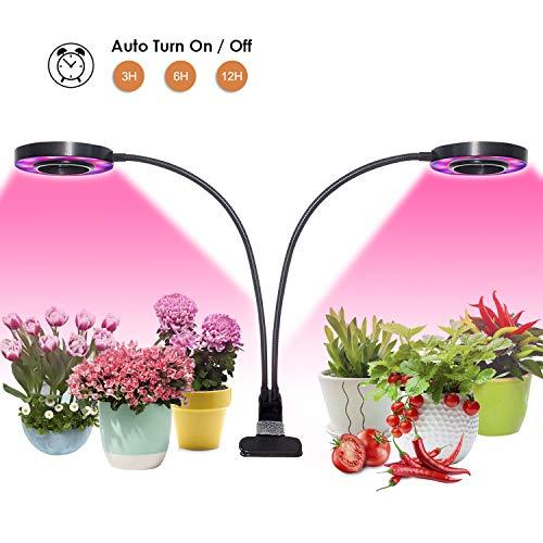 2019 Neueste Timer LED Pflanzenlampe, 20W Dual head Grow Light, 48 LEDs, 3 dimmbare Levels, Niello LED Schreibtischlampe für Zimmerpflanzen, Gewächshaus, Garten, für zu Hause und im Büro Lampe-haus