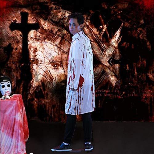 Männliche Hai Kostüm - BWNWPH Halloween Maskerade Party Kostüm Horror Männlichen Arzt Cosplay Anzug Horror Blutige Weibliche Krankenschwester Kleidung (Color : B, Size : XL)