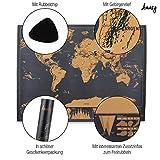 Amazy Weltkarte zum Rubbeln XXL – Schöne Erinnerung an bisherige Reisen für jeden Globetrotter (Schwarz   82 x 60 cm)