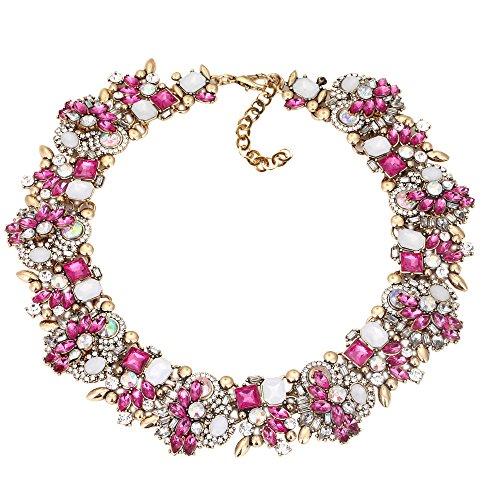 Houda-Europe-Damen-Halskette-mit-bunten-Kristall-Schmucksteinen-Modeschmuck