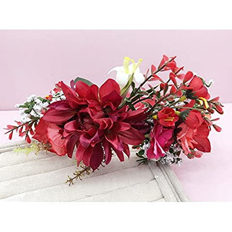 Halloween Party suma cabeza femenina adornos guirnaldas de flores cumpleaños matrimonio novia joyas Han-cabeza mar flores adornos para el pelo hairbands