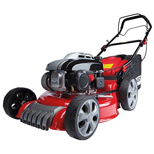 BRAST Benzin Rasenmäher incl. Selbstantrieb 2,5kW (3,4PS) GT Markengetriebe kugelgelagerte Big-Wheeler-Räder Stahlblechgehäuse Easy Clean 46cm Schnittbreite