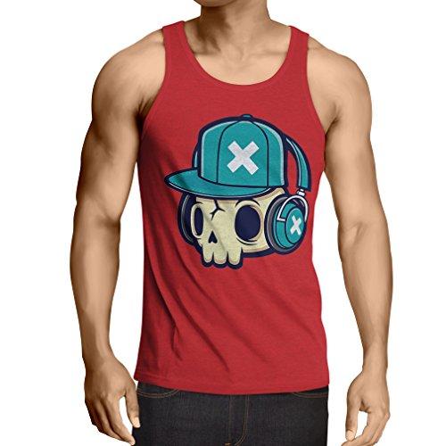 lepni.me N4606V Weste The DJ! (Medium Rot Mehrfarben)
