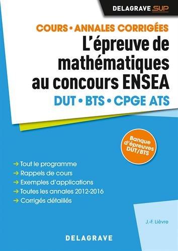 Epreuve de mathématiques au concours ENSEA