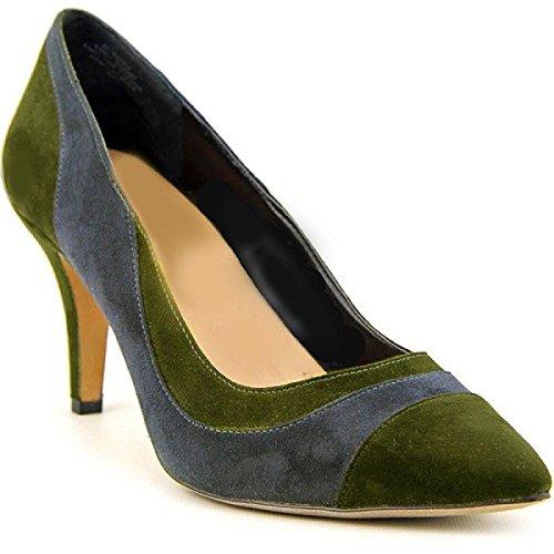Escarpin en Daim Model KIA par HGilliane Design Eu 33 au 44 Green Blue