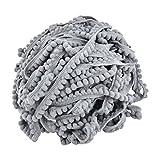 sourcingmap Grau Baumwolle Mischungen DIY nähen Kleidung Hemd Kleid Ornament Fransen Trimmen