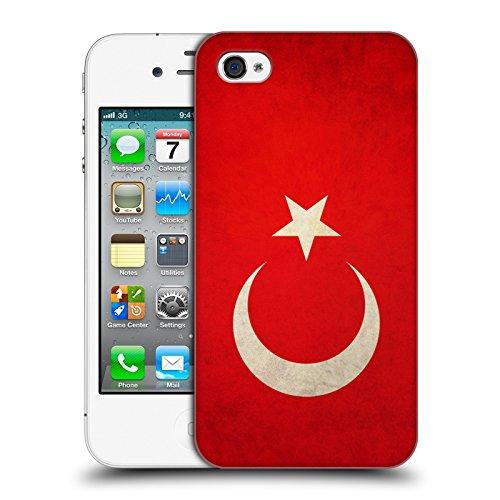 Head Case Designs Türkei Türkisch Vintage Fahnen Ruckseite Hülle für Apple iPhone 4 / 4S Iphone 4s 8gb