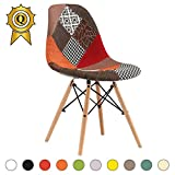 MOBISTYL Promo 1 X Chaise Design Inspiration Eiffel Pieds Bois Clair Assise Patchwork Automne DSWL