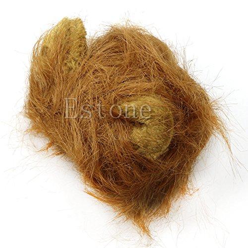 Zohong Haustierhut Kostüm Löwenmähne Perücke für Katzen, Haustiere, Halloween, mit ()
