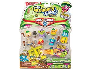Grossery Gang- Paquete de 10 y Ballesta, Multicolor (Flair Leisure Products GGA35000)
