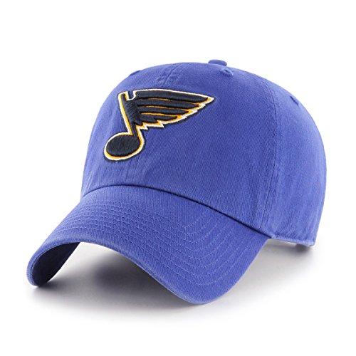 NHL St. Louis Blues OTS Challenger Adjustable Hat, Royal, One Size Royal Blue Cap