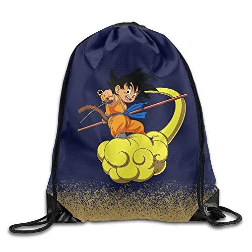 763dd8701a7 Etryrt Mochilas/Bolsas de Gimnasia,Bolsas de Cuerdas, Son Goku Comic 2 White