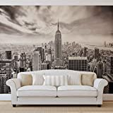 Stadt Skyline Empire State New York - Wallsticker Warehouse - Fototapete - Tapete - Fotomural - Mural Wandbild - (2318WM) - XL - 208cm x 146cm - VLIES (EasyInstall) - 2 Pieces