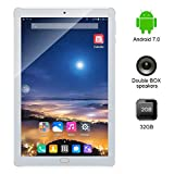 Kivors 10 Pollici Tablet PC IPS HD Android 7.0 (Processore Quad Core, 2GB RAM, 32GB ROM, IPS HD 1280x800, Doppia fotocamera, Doppio Sim, Wifi, GPS, OTG)