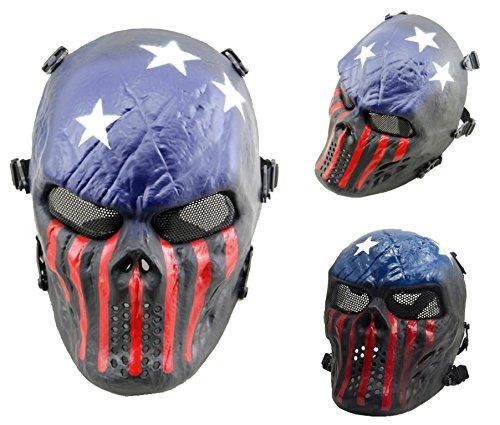 Airsoft calavera cara llena máscara protección Militar