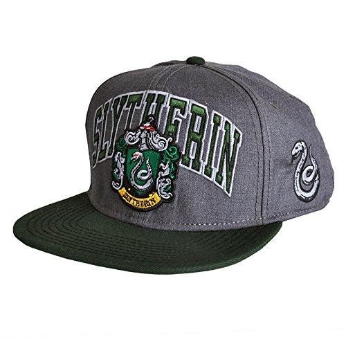 (Elbenwald Harry Potter Slytherin Snapback Cap Basecap mit Logo grün)