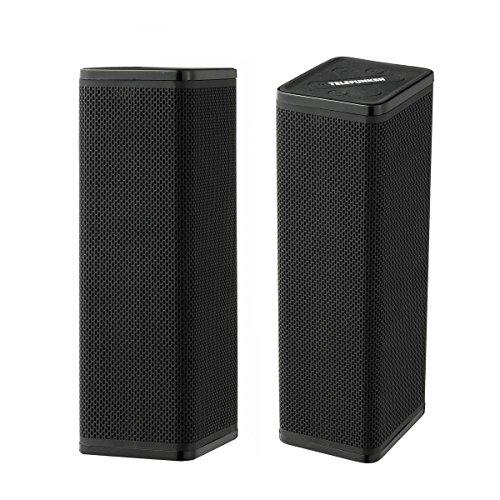Telefunken BS1016ST Twin-Bluetooth® Speaker | Bluetooth 2.1 Stereo Lautsprecher | Musik Boxen | bis zu 6 Stunden Spielzeit