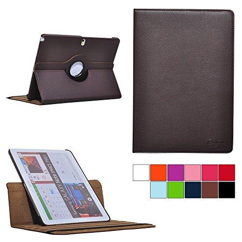 COOVY® Cover für Samsung Galaxy Note PRO 12.2 SM-P900 SM-P901 SM-P905 Rotation 360° Smart Hülle Tasche Etui Case Schutz Ständer | Farbe braun