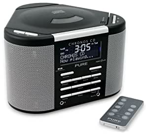 PURE Chronos CD DAB/FM/CD/MP3 Stereo Clock Radio - Black (discontinued by manufacturer)