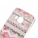 HTC ONE M9 Hülle, HTC M9 Case, Greetrass Weichem Silikon TPU Bumper Case Ultra Dünne Schutzhülle für HTC ONE M9 Handyhülle Handy Tasche Back Cover Rückseite Etui Schutz Schale mit Rote Rose Muster -