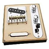 MagiDeal Pont de Selle Chrome Pickup Pour Fender Telecaster Parties de Guitare Électrique