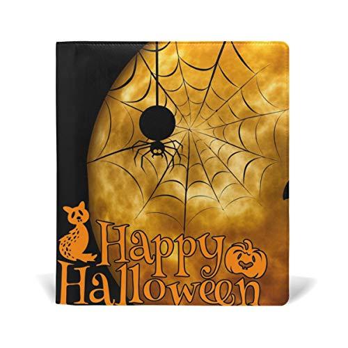 PU-Bucheinband Schul- / Lehrbuchumschläge für die meisten Hardcover-Lehrbücher 9 X 11 IN Blooming Purple Orchid Flowers Safflower Halloween