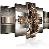 murando - Bilder 200x100 cm Vlies Leinwandbild 5 tlg Kunstdruck modern Wandbilder XXL Wanddekoration Design Wand Bild - Buddha 020113-289