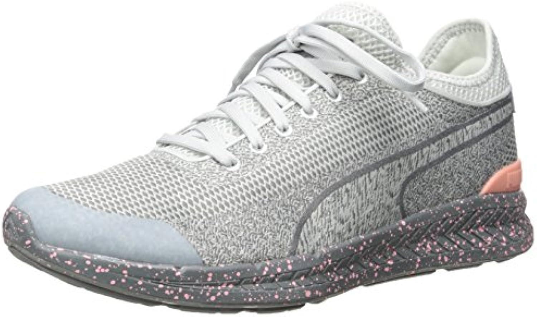 PUMA Men's Ignite Sock Woven Running Shoe  Glacier Gray Steel G  10 D US