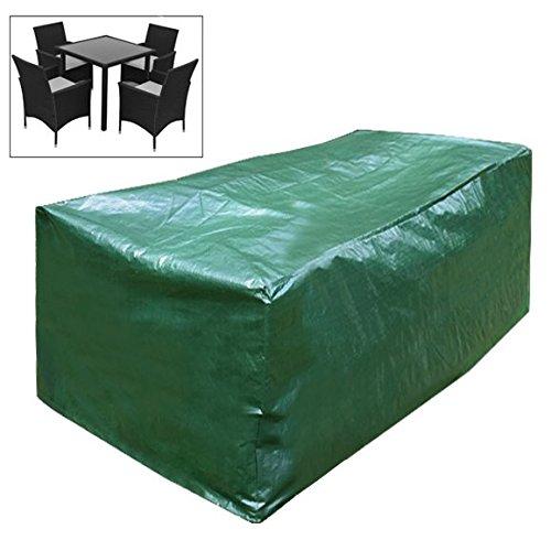 Woltu gz1172 Cover Guard avión carcasa impermeable verde lona cubierta para muebles de jardín sillas 193 x 136 x 88 cm