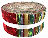 Stoff Freiheit Weihnachten Sterne Freiheit Rolle, 100% Baumwolle, mehrfarbig, 13x 13x 7cm