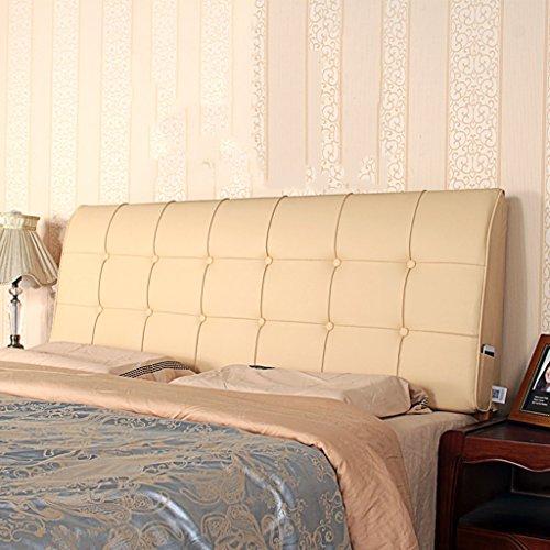 YMXLJFMode Kissen Leder zurück Feste Unterstützung Lendenkissen Bett Große Gepolsterte Kissen zurück Unterstützung für Das Lesen im Büro zu Hause (Farbe : A) (Bein-unterstützung Erholsamen)